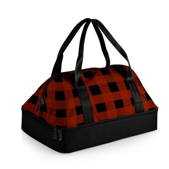 Potluck Casserole Tote Buffalo Red/Black Check bag
